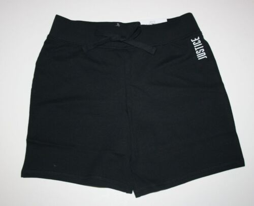 NEW Justice Black Athletic Bermuda Length Shorts NWT 6 7 8 10 12 14 16 18 Girls
