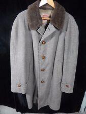 "Vintage(?) Men's Loden Frey Button Down Heavy Long Coat; 38""; Germany"