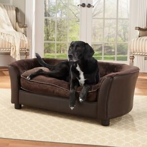 Image Is Loading Comfort Stylish Dog Sofa Bed Elevated Furniture Removable
