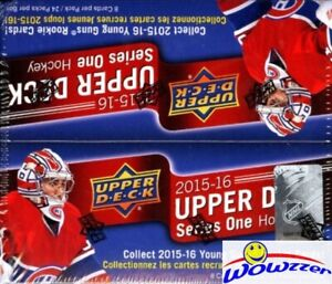 2015-16-UD-Series-1-Hockey-Factory-Sealed-24-Pack-Retail-Box-6-Young-Guns-Jersey