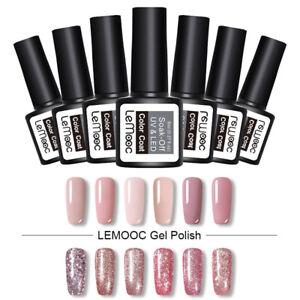 LEMOOC-8ml-Gellack-Color-Sequins-Soak-Off-UV-Gel-Nagel-Kunst-Varnish-Design
