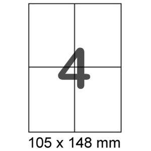 200-Paketetiketten-105x148-mm-DIN-A6-auf-A4-Format-wie-Herma-4676-Zweckform-6120