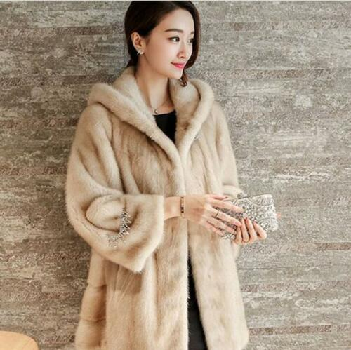 Sleeveløs Hooded Coats Faux Casual Outwear Fit Lang Kvinder Vinter Warm Fur qw7E11