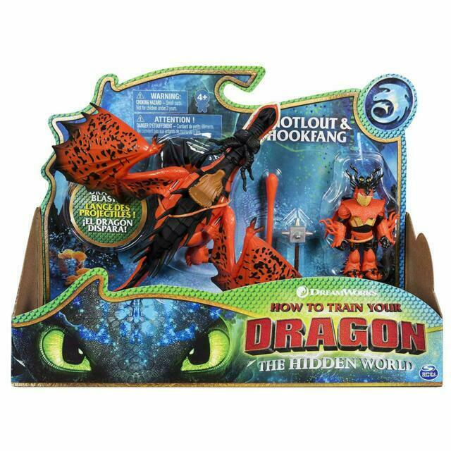 How To Train Your Dragon 3 Hidden World 2019 Snotlout Hookfang Action Figure For Sale Online Ebay
