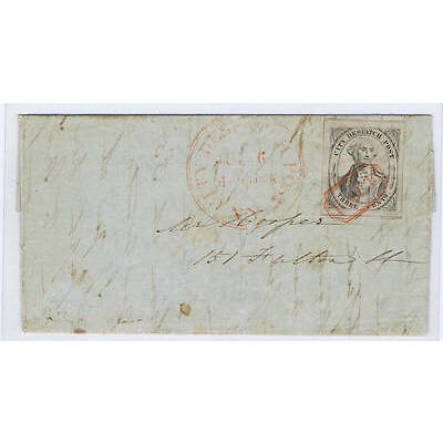 SC# 40L1 CITY DESPATCH NYC GEM TIED BY RED OCTAGON FREE CANCEL 1842, PF CERT!