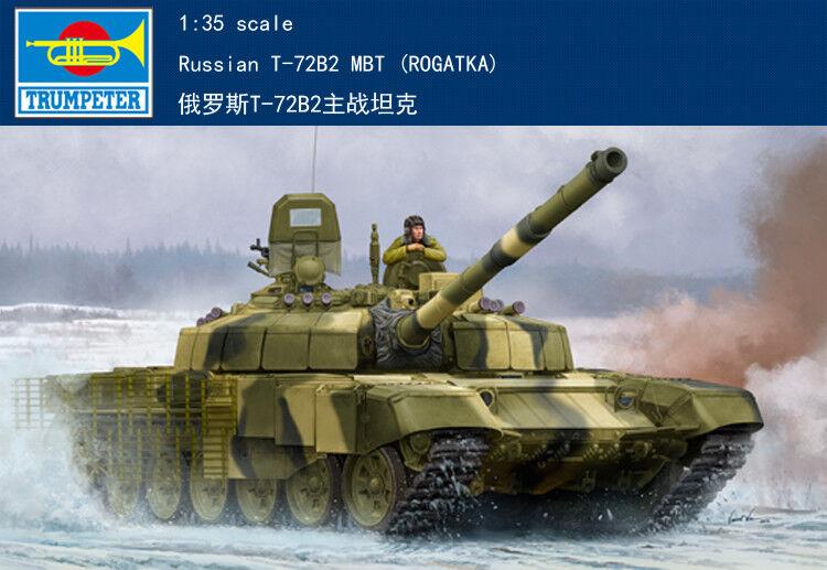 Trumpeter 09507 Russian T-72B2 MBT (Rogatka) Tank Plastic 1 35 Model Armored Car