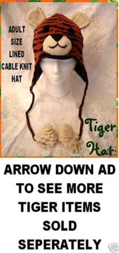 TIGER HAT bengals PLUSH head mask ADULT does not cover your face US SELLER Fast!