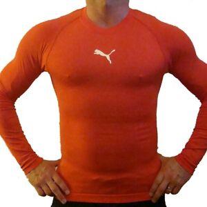 Puma-Hombre-Termica-Capa-Base-Camiseta-de-manga-larga-seco-movil