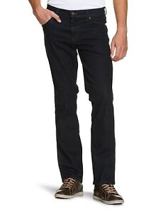 Wrangler-Texas-Regular-Fit-Stretch-Jeans-New-Men-s-Dark-Blue-Black-Denim-Pants