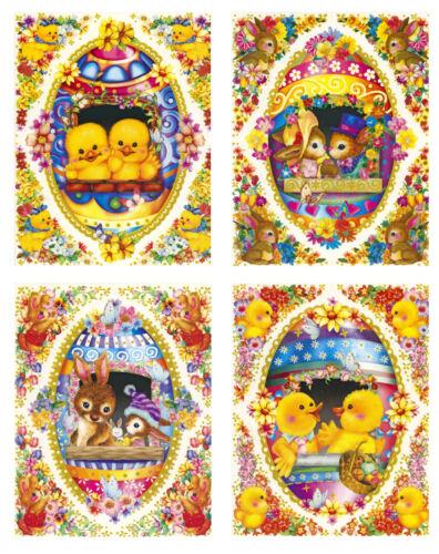 Fensterbild Fenstersticker Fensterdeko Wandsticker Sticker Ostern Nostalgie