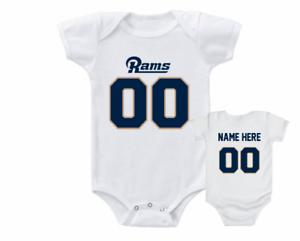 online store 80c88 d1c8e Details about Los Angeles Rams Onesie Bodysuit Personalized Shirt Custom  Jersey
