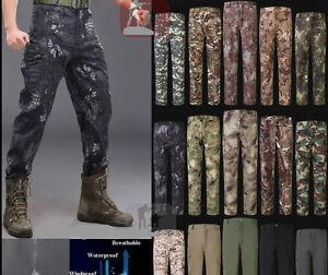 Mens-Military-Shark-Skin-Outdoor-Pants-Soft-Shell-Waterproof-Fleece-TAD-Trousers