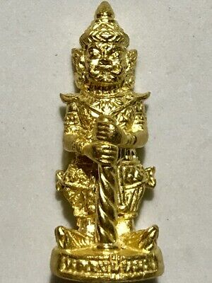 PHRA LP PAN RARE OLD THAI BUDDHA AMULET PENDANT MAGIC ANCIENT IDOL#21
