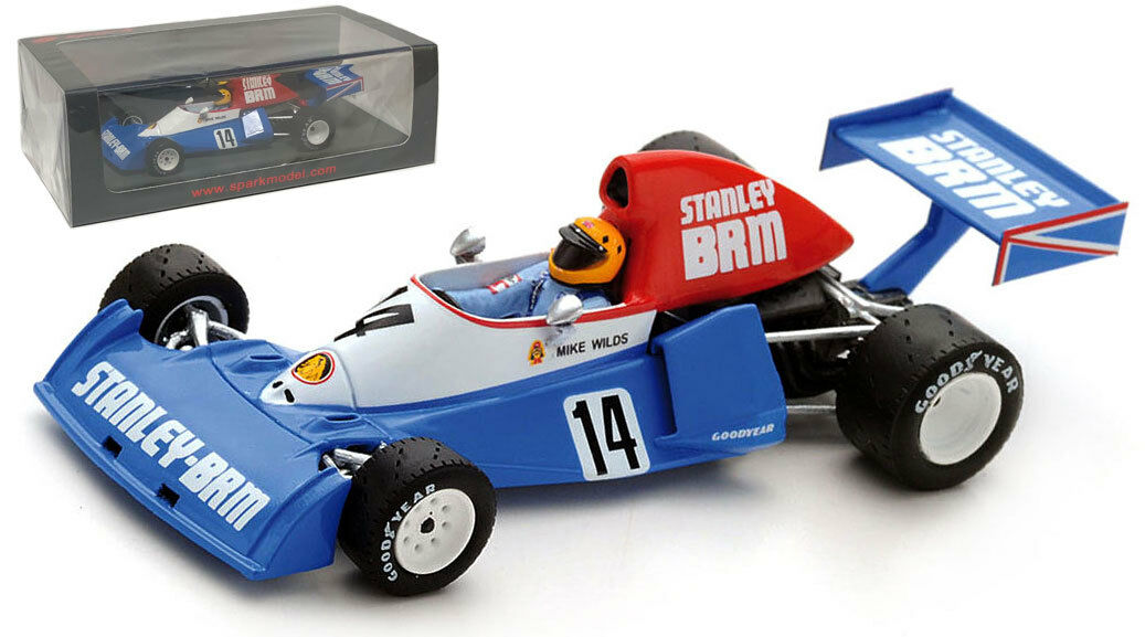 Spark S4798 BRM P201 'Stanley' Brazilian GP 1975 - Mike Wilds 1 43 Scale