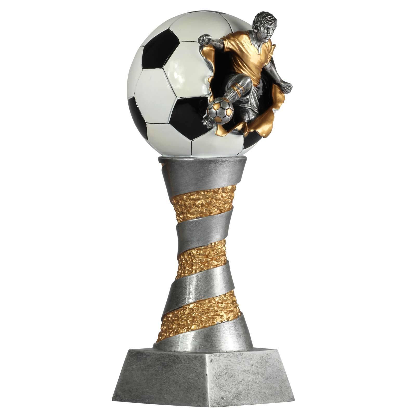 Pokal Fußball Lyon aus aus aus Resin silber Gold handbemalt, 26, 28, 31oder XXL 80cm 4c9926