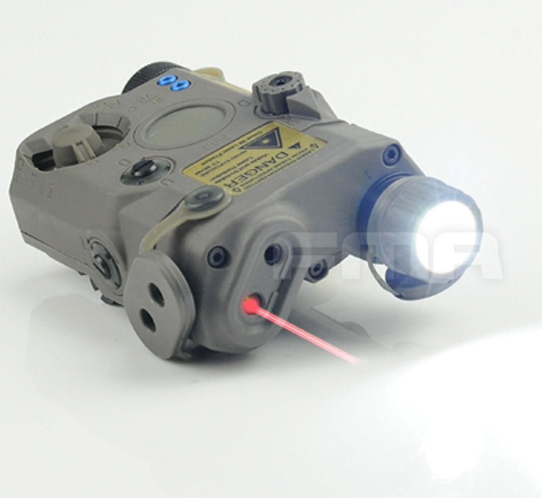 Una versión de actualización de LA5 LED de luz blancoa + Laser rojo con lentes de ir a estrenar FG