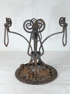 Imposant-pied-centre-de-table-ART-DECO-1930-Fer-Forge