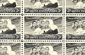 IMMORTAL CHAPLAINS (1948) - #956 - Full Mint -MNH- Sheet of 50 Postage Stamps