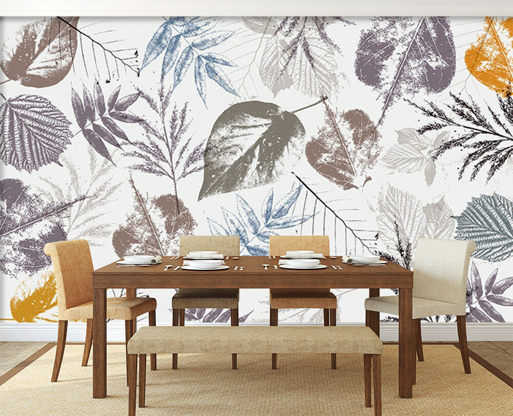 3D Leaf Art Paint 6 Wall Paper Exclusive MXY Wallpaper Mural Decal Indoor AJ