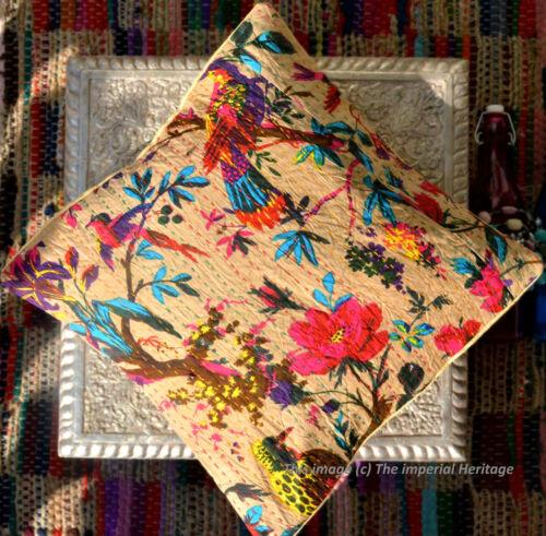 "INDIAN HANDMADE CUSHION BED PILLOW COVERS THROW Kantha HOME DECOR ART 16X16/"""