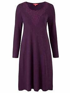Together-ladies-dress-plus-size-30-plum-berry-embroidered-neckline-calf-length