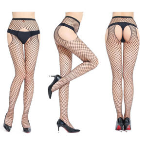 Women-Stockings-Open-Crotch-Pantyhose-Female-Fishnet-Erotic-Mesh-Tights-Dote