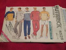 New Butterick Classic Pattern 4526 Mens' sz Xs-Med Stretch Knit Top*Shorts*Pants