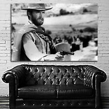 #01 Clint Eastwood Cowboy Movie Poster Large 40x60 inch More Size Available