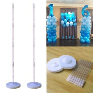 Plastic-Balloon-Arch-Column-Stand-with-Base-Kits-Wedding-Birthday-Party-Decor-UK