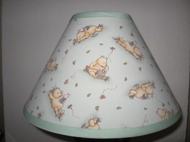 Clic Winnie The Pooh Green Fabric Nursery Lamp Shade