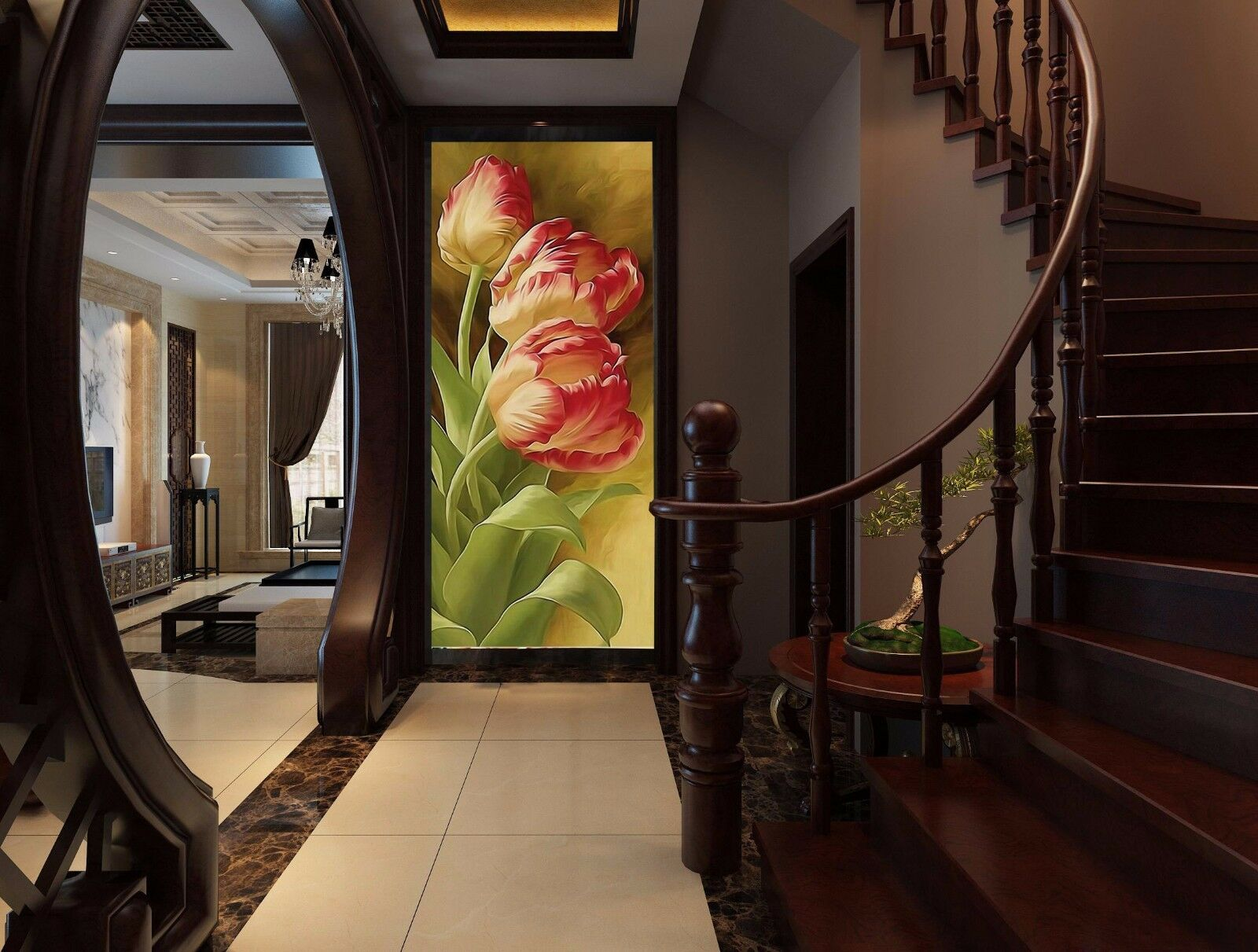 3D Petals Paint 51 Wallpaper Murals Wall Print Wallpaper Mural AJ WALLPAPER UK