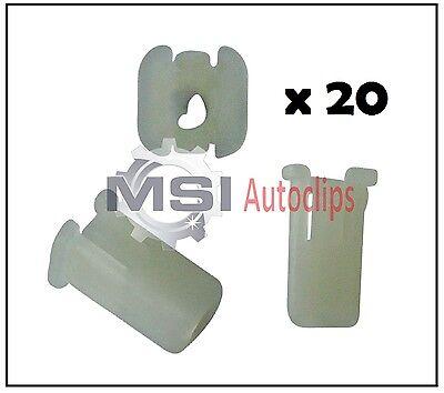 20 x Ford Front Bumper Plastic Clips Grommet Expanding Nut 6549354