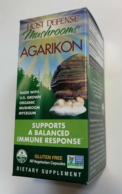 Fungi Perfecti Host Defense, Agarikon 60 capsules, Organic, Immune Support