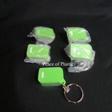 Tupperware NEW Lot of 5 Fridgesmart Fridge Key Chain Lime Aid Green Keychains