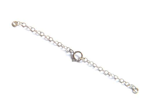 extensión chain-w//bolt Anillo 7cm De 9 quilates de oro blanco necklet Seguridad no chatarra