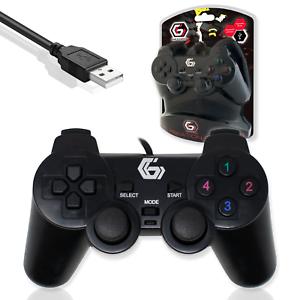 USB Cablato DUAL VIBRATION GAMEPAD controller di gioco Nero/Gembird congiunto UDV-01