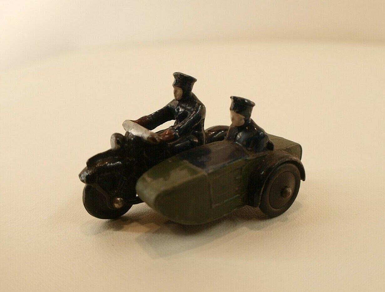 Dinky toys gb b sidecar motor cycle patrol motorcyclist moto