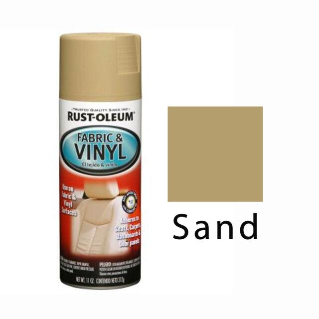 Rust-Oleum Fabric & Vinyl Spray Paint Seats Doors Dashboard Chairs Sand