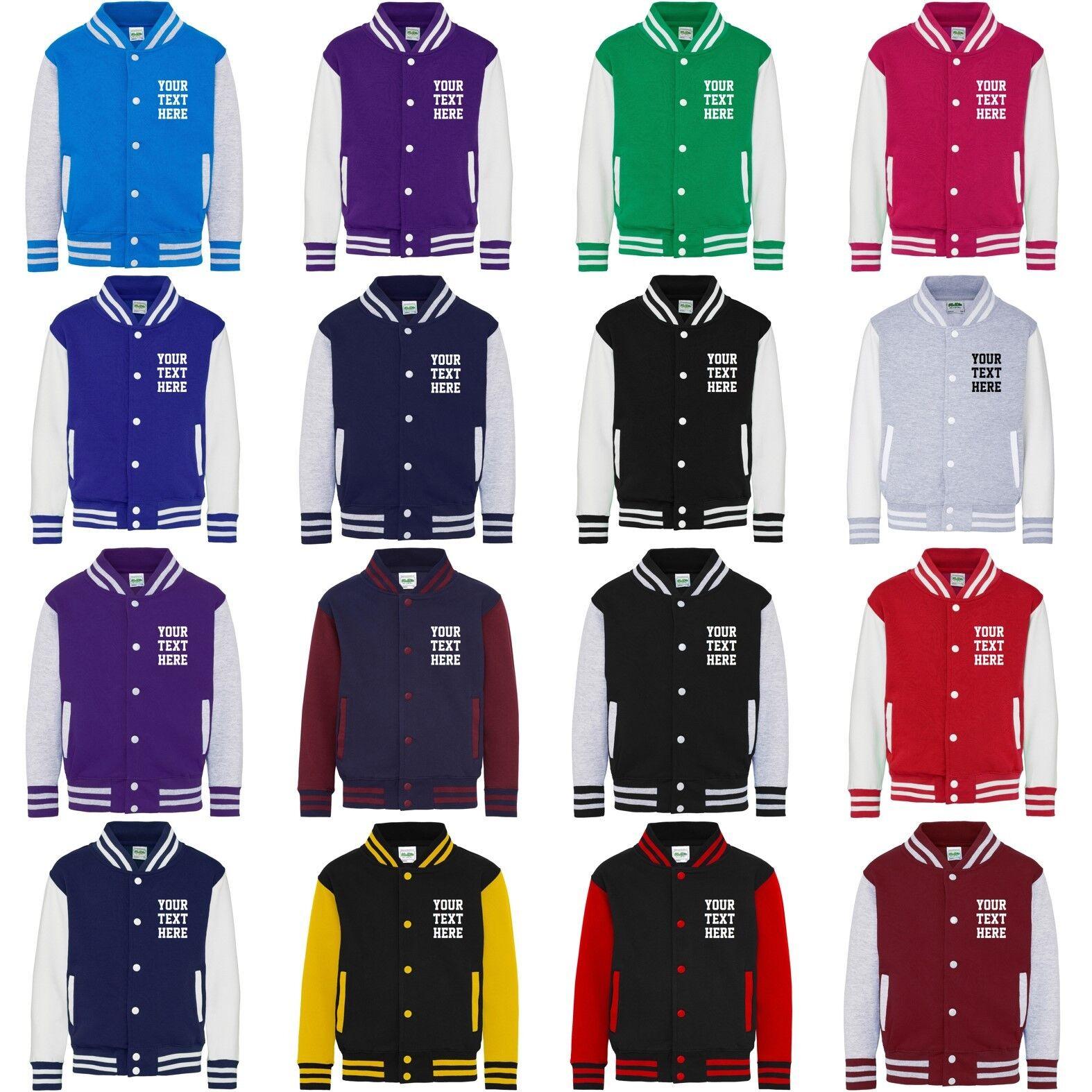 Direct 23 Ltd Kids Personalized Glitter Varsity Jacket