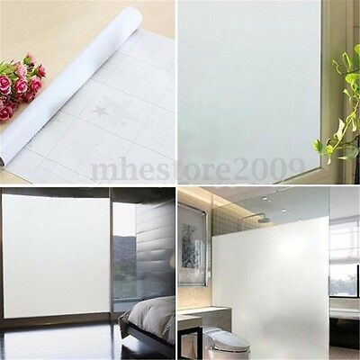 Waterproof PVC Privacy Frosted Home Bedroom Bathroom Window Glass Film 45x100cm