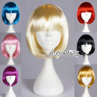 Halloween Straight BOBO Party Wig Cosplay Fancy Dress Anime Hair Wigs 8 Colors