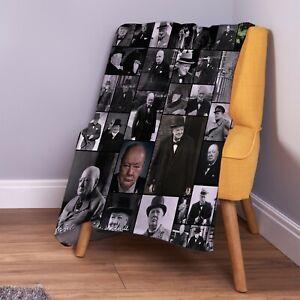 Winston-Churchill-B-amp-W-Photo-Design-Soft-Fleece-Throw-Blanket