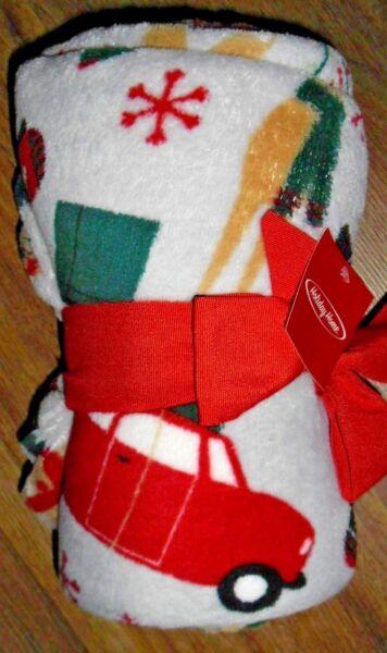 "Holiday Time Christmas Santa Reindeer Super Soft Plush Throw Blanket 50""x 60"" Een Onmisbare Soevereine Remedie Voor Thuis"