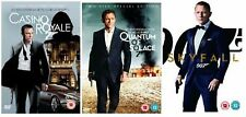 DANIEL CRAIG JAMES BOND DVD Movie Boxset CASINO ROYALE QUANTUM OF SOLACE SKYFALL