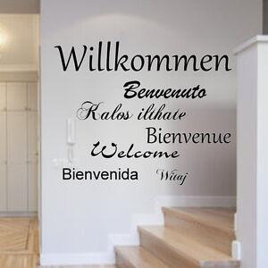 Wandtattoo-Willkommen-Welcome-Sprachen-Flur-Wandtatoo-Spruch-Wandaufkleber