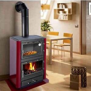 Stufa camino con forno a legna gerkand mod augusta in - Stufa a pellet con forno prezzi ...