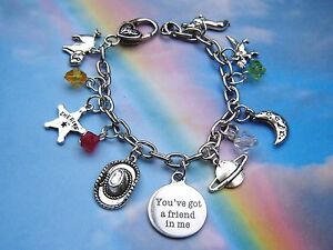 Details About Toy Story Themed Charms Bracelet Youve Got A Friend In Me Quote In Gift Bag