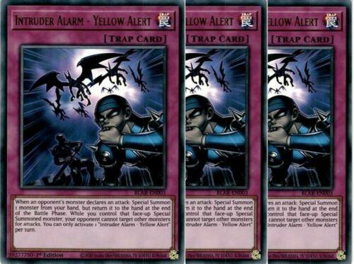 Ultra Rare 1st ed BLAR-EN003 Yellow Alert YuGiOh! NM 3x Intruder Alarm