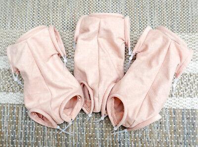 """3 X Carne In Pelle Scamosciata Corpo Per La Piena Braccia & Gambe Caricamento Frontale Completa Reborn Babies@16""""-mostra Il Titolo Originale"""