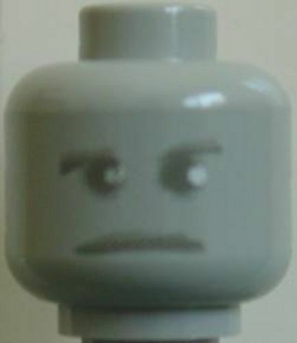 LEGO HARRY POTTER Minifig Head with Ghostly Gray Face  Peeves  Lt Gray new